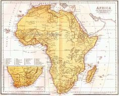 Africa Map Vintage Victorian Lippencott 1871 Antique Copper Engraving Asian Cartography To Frame