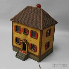 Painted and Electrified Dollhouse | Sale Number 2765M, Lot Number 173 | Skinner Auctioneers