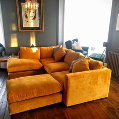 36 Stunning Yellow Sofa Ideas For Your Living Room Decoration – Sofa Design 2020 Living Room Sofa, Corner Sofa Bed, Home, Sofa Design, Sofa, Corner Sofa Living Room, Living Room Decor, Velvet Sofa Living Room, Sofa Handmade