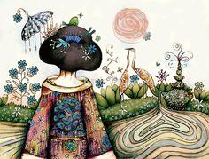 'Topiary Teapot' © Karin Taylor Giclee Art Print avail 'Redbubble' ♥≻★≺♥