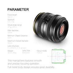 Kamlan 50mm F/1.1 APS-C Manual Focus Lens