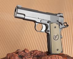 And speaking of BBQ guns: Nighthawk Heinie 1911 Pistol, Colt 1911, Big Guns, Cool Guns, Home Defense, Self Defense, Weapons Guns, Guns And Ammo, Zombie Apocolypse