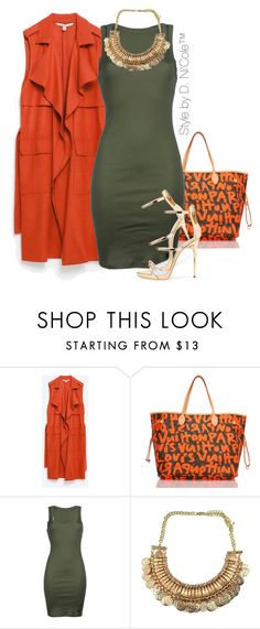 """""""Untitled #3267"""" by stylebydnicole ❤ liked on Polyvore featuring Zara, Louis Vuitton, !M?ERFECT and Giuseppe Zanotti"""
