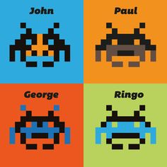 Beatles mania and Space Invaders:  John, Paul, RIngo e George form the Outer Space