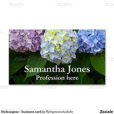 Hydrangeas - business card http://www.zazzle.com/hydrangeas*