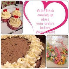Valentine's date? Order by Wednesday! #allahjärtansdag #valentine #valentinesday #love #cupcake #cake #tårta #cookiecake #order #beställning #delivery #kärlek #gift #present #göteborg #linné #gbgftw #namnam #happy #heart