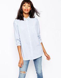 Image 1 ofMonki Pocket Stripe Shirt