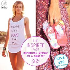 After a special gift for mum this Mothers Day? Give her something meaningful, with our Inspired Pack! Moeloco Flip Flops has teamed up with Free Spirit, offering a combo of our imprint Flip Flops, and an inspirational tee, for just $65. With each flip flop set purchased, we give a pair of canvas shoes to a child in India so they can go to school. So give the gift that keeps on giving! It's #good4yoursole | #mothersday #gift | www.moeloco.com