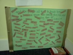 Prayer Board for Healing, Luke 6:19 (children write name of person on band-aid, stick to wall, sit by board and pray as they wish)