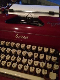 """Red Everest Typewriter at """"Charlie Foxtrot"""" on line store!"""