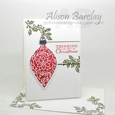 Gothdove Designs - Alison Barclay - Stampin' Up! Australia - Stampin' Up! Embellished Ornaments - Create with Connie and Mary sketch challenge
