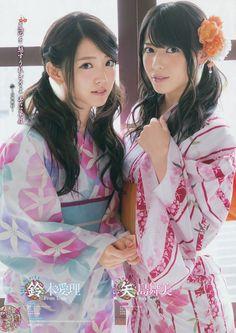 girlsinkimono:  Airi Suzuki Maimi Yajima