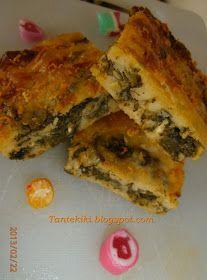 Epirus bampanetsa with spinach and beet greens. Greek Recipes, Baby Food Recipes, Savoury Recipes, Greek Cooking, Pitta, Spanakopita, Beets, Quiche, Tart