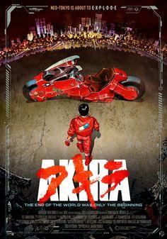 Akira (1988) Katsuhiro Otomo, theatrical onesheet / movie poster design by Kellerman Design.