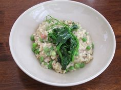 Risotto Carbonara with Peas