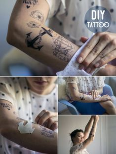 DIY Temporary Tattoos with FREE Templates - Make my lemonade