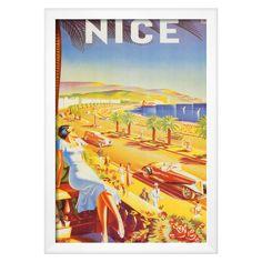 Art.com Nice by DHey - Framed Art Print, Soho White