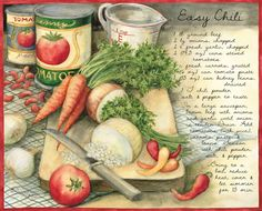 The fires of Beltane Decoupage Vintage, Decoupage Paper, New Recipes, Favorite Recipes, American Kitchen, Recipe Scrapbook, Recipe Filing, Food Quotes, How To Can Tomatoes