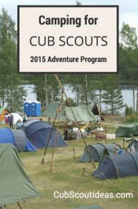 Camping in the New Cub Scout Adventure Program 2015 | Cub Scout Ideas