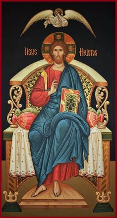 Christ Enthroned (on black), large icon Religious Pictures, Jesus Pictures, Religious Icons, Religious Art, Byzantine Art, Byzantine Icons, Religion, Christ Pantocrator, Christ The King