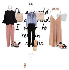 formal by jennifersanchezthevenin-1 on Polyvore featuring moda, Sans Souci, Ganni, Chicwish, Topshop, The Row, Sanayi 313, Prada, Hinge and Kate Spade