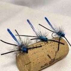 Fishing Flies Damsel Fly Blue Fishing Fly ~ Size 8 ~ Six 6