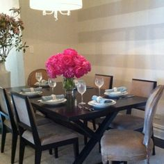 Casual elegance dining room by Interiors by Francesca