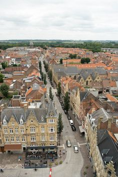 View from the cloth tower, down into the city streets, Ypres Europe Travel Tips, European Travel, Places To Travel, Travel Destinations, Places To Visit, Ypres Belgium, Ww1 History, Visit Belgium, Where To Go