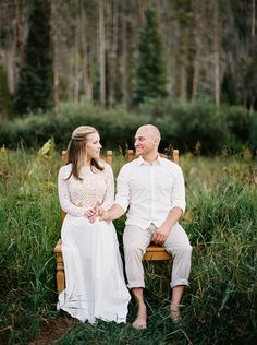 Colorado Mountain Engagement Session with labradors