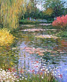 Nature Aesthetic, Flower Aesthetic, Impressionist Art, Renaissance Art, Claude Monet, Pretty Art, Landscape Paintings, Monet Paintings, Famous Artists Paintings