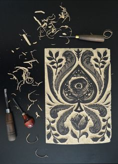 ramon rodrigues woodcut printing block