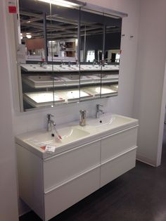 $379 Godmorgon 4 Drawer Sink Cabinet High Gloss White 55 1/8 X 18 1