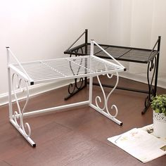 Microwave Storage Rack Shelf Wrought Iron Double Layer