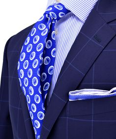 Navy with blue Windowpane suit.  SuitUp SUITS ONLY!