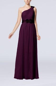 38196b6309f8 Elegant One Shoulder Chiffon Floor Length Sequin Wedding Guest Dresses -  iFitDress.com Sequin Wedding