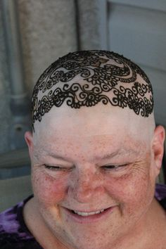 Henna crown-a perfect session for individuals overcoming chemotherapy. HennaArt.ca: Two weddings and a bald head
