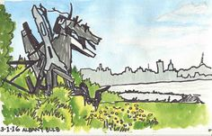 Urban Sketchers S.F. Bay Area: At the Albany Bulb