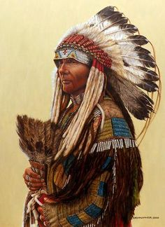 """This is a """"pencil"""" of Black Bear, Chief. Black Bear was an important chief of the Northern Arapahoe. The reference photo used was taken by Frank A. Rinehart in"""