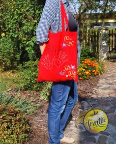 Handmade in Jerutki: Torba - czerwona / shopping bag