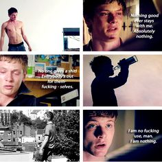 James Cook series 3 and 4 Skins Quotes, Tv Quotes, Series Movies, Series 3, Movies Showing, Movies And Tv Shows, Cook Skins, Stupid Kids, Men Celebrities