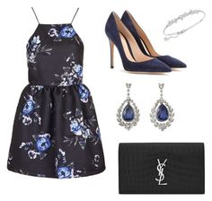 """"""""""" by camille-cizmic on Polyvore featuring mode, Topshop, Gianvito Rossi, Swarovski, Yves Saint Laurent, women's clothing, women's fashion, women, female et woman"""
