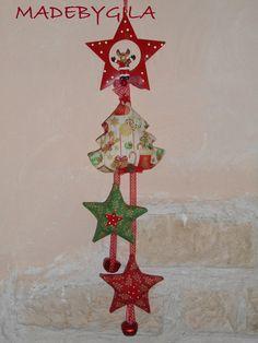 Albero di natale imbottito in tessuto americano e for Decorazione natalizia per porta
