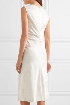 Isabel Marant - Ravenax Ruched Jacquard Dress - White - FR44