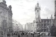 Prague, Oldtown Hall, 1852 | From Celetná Street