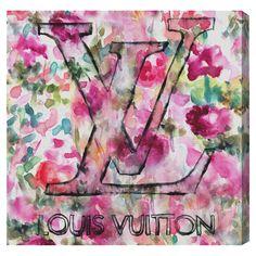 LV floral print