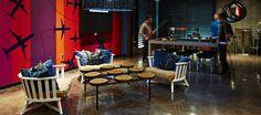 LEMAYMICHAUD   ALT   Halifax   Architecture   Design   Hospitality   Hotel   Lobby   Reception   Table   Mural   Pool table   Wood   Seating Lobby Reception, Reception Table, Hotel Lobby, Pool Table, Hospitality, Architecture Design, Wood, Bumper Pool Table, Architecture Layout