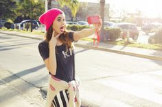 ♡ LOOK OF THE DAY 28-05-2014 ♡  #LetMeTakeASelfie  Ph: Anita Thomas Fotografía Make Up Juicy Makeup Modelos: Fresi Power Styling : Maria Roth   ♡ Remera Tokio ♡ Sweater French Kiss ♡ Skinny Rayado ♡ Beanie Rosa   ♡ Tokio Tee ♡ French Kiss Sweater  ♡ Striped Skinny ♡ Pink Beanie