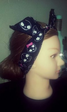 Pin up style, vintage inspired bandana headbands, wired hair accessories