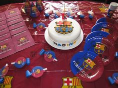 FC Barcelona Birthday Party supplies, to decorate your table and make your guests feel the soccer spirit. All at www.partyweb.us #fcbarcelonasupplies #fcbarcelonapartysupplies #fcbarcelonabirthday Soccer Birthday Parties, Birthday Themes For Boys, Birthday Party Themes, Birthday Ideas, Barcelona Soccer Party, Fc Barcelona, Messi Birthday, 10th Birthday, Birthday Gifts For Boyfriend Diy