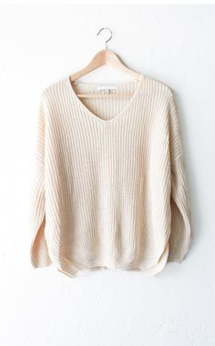 Cream Knit Sweater from NYCT Clothing. Saved to Sweater Wishlist ❤️. Shop more products from NYCT Clothing on Wanelo.